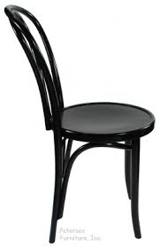 bentwood chair theatrical black finish side view black bentwood chairs