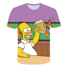 <b>Simpson</b> Snoopy and other Animation Drink Beer <b>Printing</b> T shirts ...