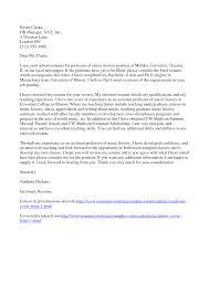 academic cover letter format letter format  academic