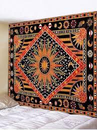 [46% OFF] <b>Bohemia Sun Geo Printing</b> Wall Tapestry   Rosegal