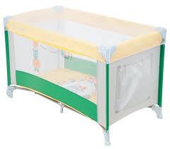 Купить <b>Манеж</b>-кровать <b>Capella Sweet Time</b> Zoo B green по низкой ...