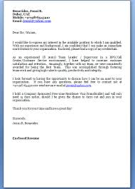 job hunting cover letter format email cover letter