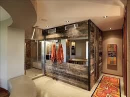 view in gallery reclaimed timber walls create a fabulous modern rustic bathroom design birdseye design brooklyn modern rustic reclaimed wood