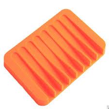 Showking Bathroom Tools Soap <b>Plate Silicone Soap Dish</b> Storage