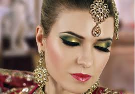 gold and green smokey eye bridal makeup tutorial asian indian stani arabic contemporary look