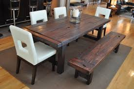 chair dining room tables rustic chairs: rustic trades furniture furniture amp accessories the clayton dining table eclectic dining room