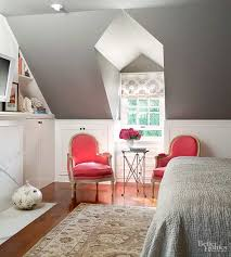 a sitting area in a small master bedroom neednt gobble up untold floor space this sweet grouping uses petite chairs paired with a tiny table bhg bedroom ideas master