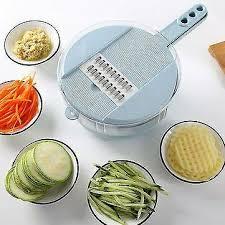 <b>Multifunction 8 In</b> 1 Vegetable Fruit Slicer Chopper Drain basket ...