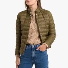 <b>Куртка стеганая</b> короткая с застежкой на пуговицы хаки <b>La</b> ...