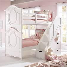 awesome white cymax bunk beds made of wood with drawers on white tile floor matched with bedroom furniture for teens