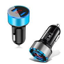 3.1A светодиодный дисплей двойной USB <b>Автомобильное</b> ...