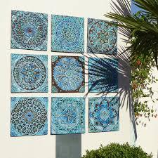 designs outdoor wall art: garden decor outdoor wall art made from ceramic set of  moroccan