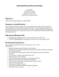nursing resume objective icu graduate nurse resume example for    nursing resume objective icu graduate nurse resume example for objective with summary of qualifications and professional experience