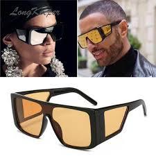 <b>LongKeeper Big Frame</b> Steampunk Sunglasses Men Oversize ...