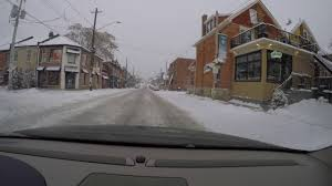 Driving in Hamilton After a 5-10cm Snowfall   December 2016 ...