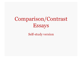 Compare and contrast essay using block method in english