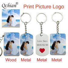 Custom <b>Photo keychain</b> Printed <b>Text Picture Lover</b> Baby <b>Photo</b> Print ...