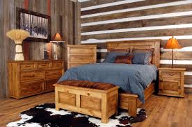 brilliant light brown wooden bed with high head board feat blue bedding set for rustic bedroom brilliant 12 elegant rustic