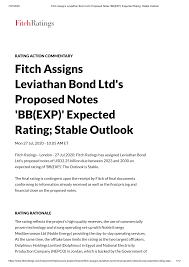 Fitch Assigns Leviathan Bond Ltd's Proposed Notes '<b>BB</b>(EXP ...