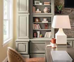 casual office cabinets in lawry maple anchor and aloe with rye glaze casual office cabinets