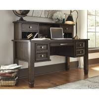 townser home office desk and hutch baybrin rustic brown home office small