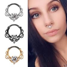 <b>G23titan Nose Piercing</b> Woman Body <b>Jewelry</b> 16G Titanium Pole ...