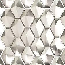kitchen backsplash stainless steel tiles: terrapin silver metal tile sb metdmdiamslv terrapin silver metal tile