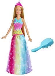 Интерактивная <b>кукла Barbie Принцесса Радужной</b> бухты, 28 см ...