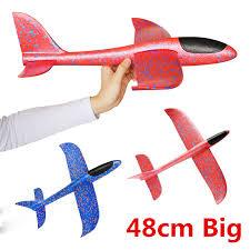 <b>48cm</b> Big <b>Good quality</b> Hand Launch Throwing Glider Aircraft Inertial ...