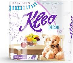 "<b>Полотенца бумажные Kleo</b> ""<b>Decor</b>"", двухслойные, цвет: белый, 2 ..."