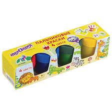 """Купить <b>Краски пальчиковые ЮНЛАНДИЯ</b> """"САФАРИ"""", 4 цвета по ..."""
