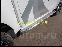 <b>Пороги труба</b> с листом d <b>60 мм</b> Toyota Hilux Pick Up 2015 ...