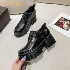 <b>AIYUQI Women</b> Shoes Thick-soled 2021 New Spring Genuine ...