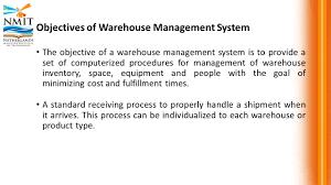 mri warehousing and distribution warehouse management  39 objectives