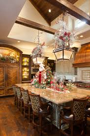 christmas interiors inspiration for a timeless kitchen remodel in houston with recessed panel cabinets dark wood cabinet gtgt