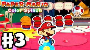 Paper Mario: <b>Color</b> Splash - Gameplay Walkthrough Part <b>3</b> - Ruddy ...