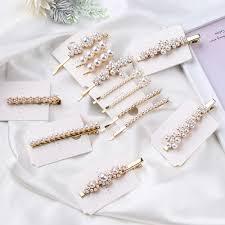 <b>Korea</b> Style Luxury Shiny Full Diamond <b>Crystal</b> Pearl Hair Clip ...