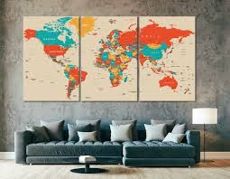 <b>World Map</b> Wall Art, <b>World Map Canvas</b>, <b>World Map</b> Print, <b>World</b> ...
