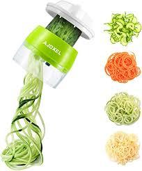 AJOXEL Vegetable Spiralizer Handheld, 4 In 1 <b>Vegetable Slicer</b> ...