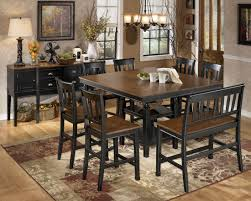 ashley furniture kitchen tables: owingsville square counter height dining room set from ashley