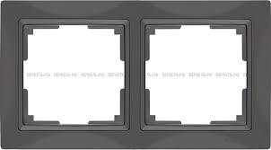 <b>Werkel Рамка</b> на 2 поста WL03-Frame-02 Basic серо-коричневый