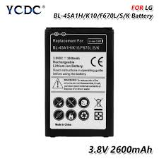 YCDC 3.8V 2600Mah <b>BL45a1h BL</b>-<b>45a1h Battery BL 45a1h</b> For LG ...