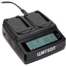 Watson D-1518 Duo <b>LCD</b> Charger <b>with</b> Two <b>LP</b>-<b>E10</b> Battery Plates ...