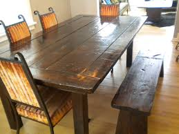 Dining Room Tables With Bench Rustic Dining Set With Bench Endltk
