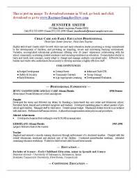 child care resume template child  seangarrette cocover letter to a resume     child care resume