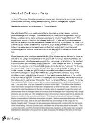 area of study text wrack and heart of darkness  year  hsc  english advanced   heart of darkness essay