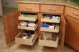 beech wood kitchen cabinets: kitchen storage cabinet in brown with wooden pull out shelves full size