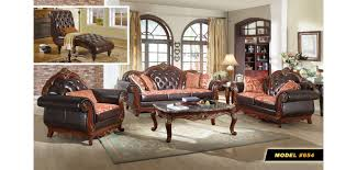 cherry wood trim black leather living room set 654 black leather living room