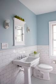 blue bathroom tile ideas: decoration ideas fabulous design ideas using rectangle white mirrors and rectangular white free standing sinks light blue bathroomsblue tile