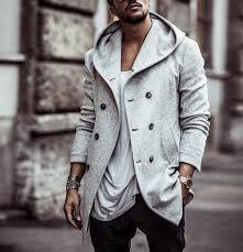 <b>ZOGAA</b> 2018 Mens Trench Coat Long <b>Wool</b> Overcoat Double ...
